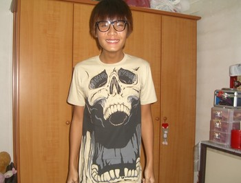 ahcun_ryan wearing Agent Skully  by jimiyo