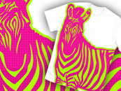 NEON ZEBRA by BitGlitch
