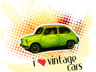 Vintage car by Byte