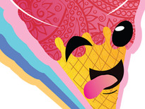 CRAZY ICE CREAM T-Shirt Design by