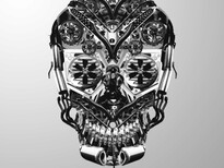 Parts bin skull T-Shirt Design by