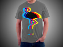 Split flamingo T-Shirt Design by