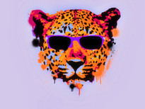 Tamed Leopard T-Shirt Design by