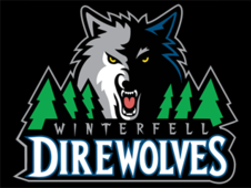 Winterfell Direwolves Logo T-Shirt Design by