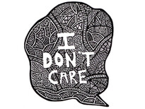 I Don't Care T-Shirt Design by