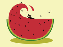 Melon splash T-Shirt Design by