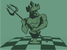 King Rules the Chess board T-Shirt Design by