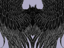 Dark Angel Wings T-Shirt Design by