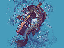 the trout T-Shirt Design by