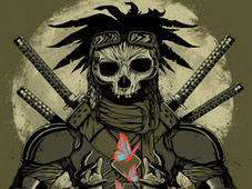 Gentle Samurai T-Shirt Design by