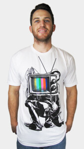 Retro TV Colour Test Man T-Shirt