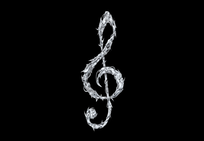 Metal Treble Clef  Artwork