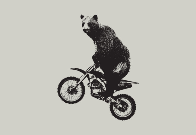 Motorcross Bear  Artwork