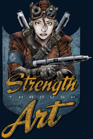 Strength Through Art II - Pens - Distressed