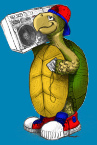 Boombox Turtle Art by Bill Tracy