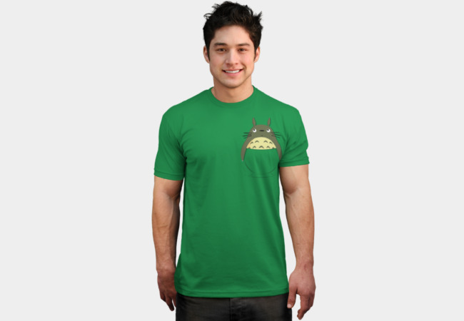 Totoro in a pocket T-Shirt - Design By Humans